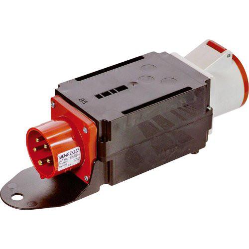 Adapter MIXO mit Phasenw.16A Phasenw. auf 32A Dose