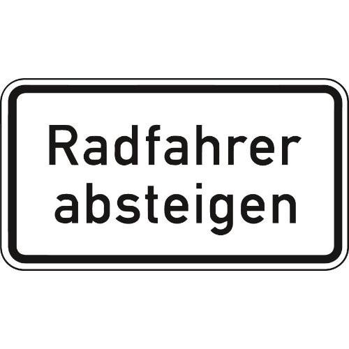 ZZ.1012-32, 330x600mm Radfahrer absteigen