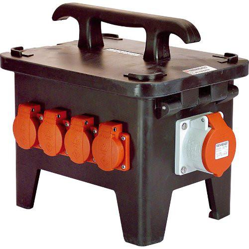 Baustellen-StromverteilerM1 400V aus Vollgummi