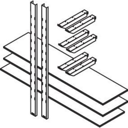 Lagerregal f. MC, 2000 mm3 Holzböden 2000 x 500 mm