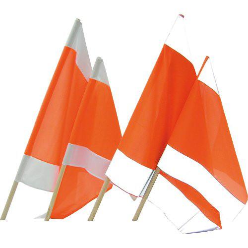 Warnflagge 75 x 75 cm mit Holzstiel 100 cm