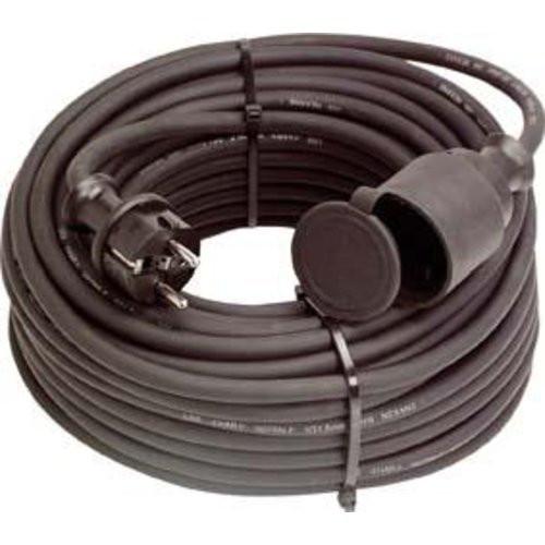Gummi-Kabelverlängerung 10m, IP44, H07RN-F3G1,5