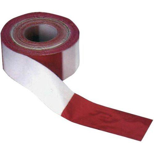 Absperrband 100 m-Rolle rot/weiß geblockt