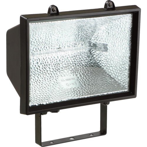 Halogen-Strahler 1500 W mit Lichtm.,schwarz,IP54