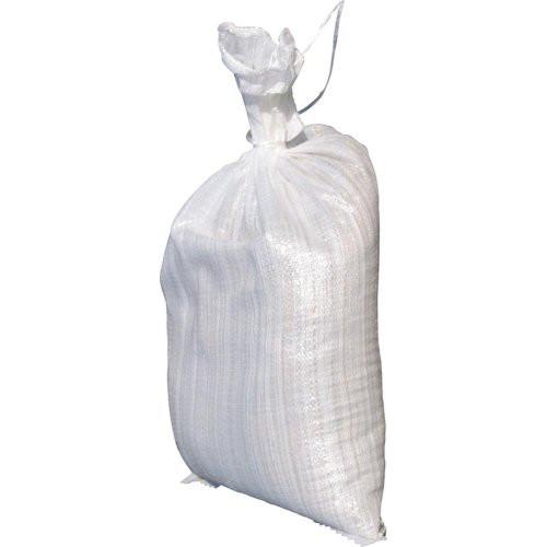 Sandsack PP-Gewebe weiß 400x600mm m. Bindeband