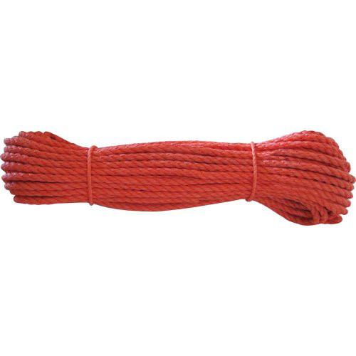 Polypropylen-Seil Ø 8mm 20m auf Docke, orange 20 m entspricht 1 Stück