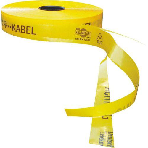 Trassen-Warnband 250 m T-Kabel Sollbruchstellen