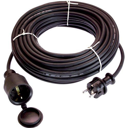Gummi-Verlängerung 50 m H05RR-F 3G1,5 schwarz