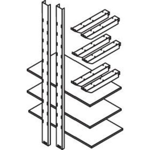 Lagerregal f. MC, 1000 mm3 Holzböden 1000 x 500 mm