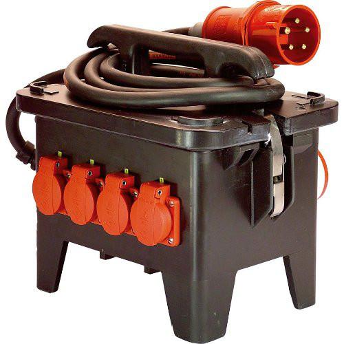 Baustellen-StromverteilerM2 400V aus Vollgummi